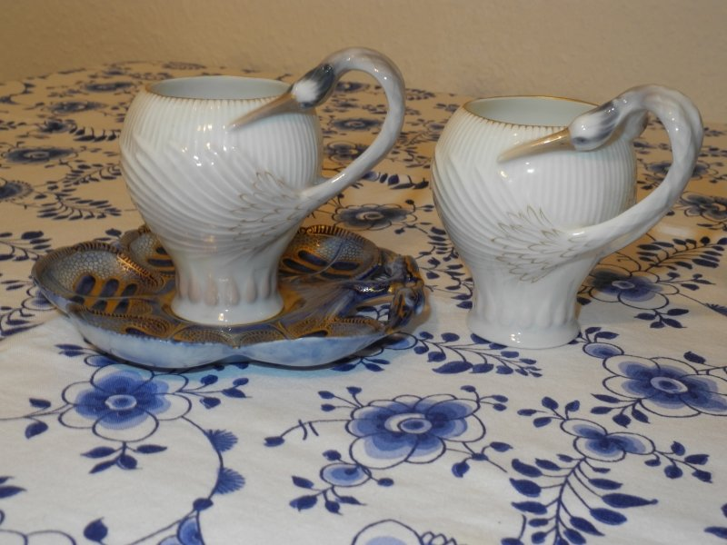 Heron Mocca Cup and Saucer