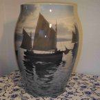 French Ship Vase