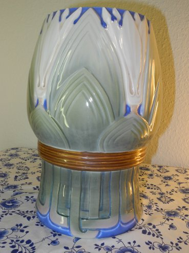 Leaves and Blossom Art Nouveau Vase