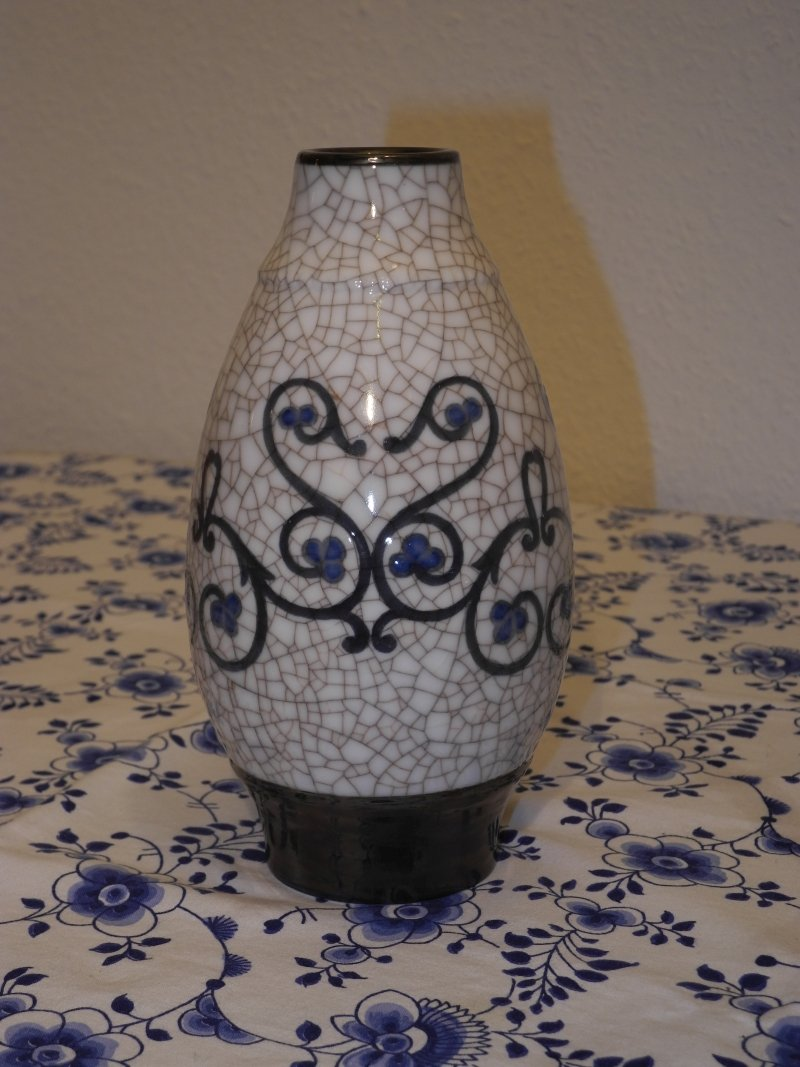 Art Nouveau Crackle Vase