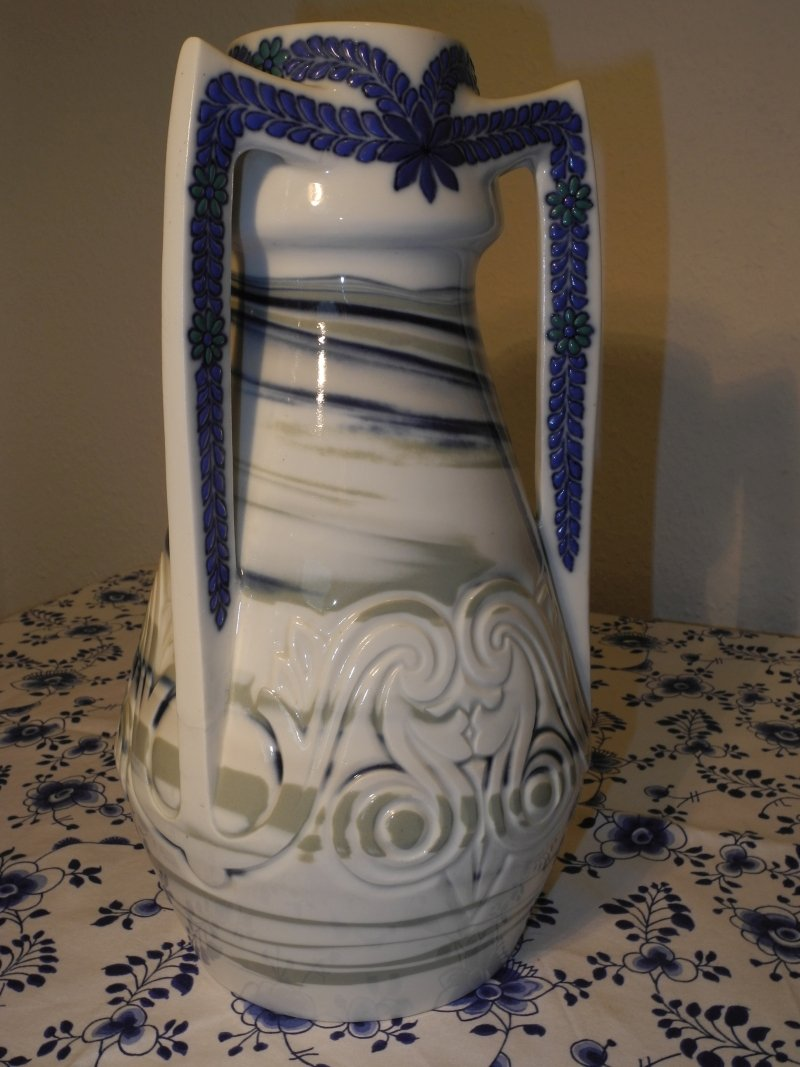 Enamel Glazed and pierced Vase