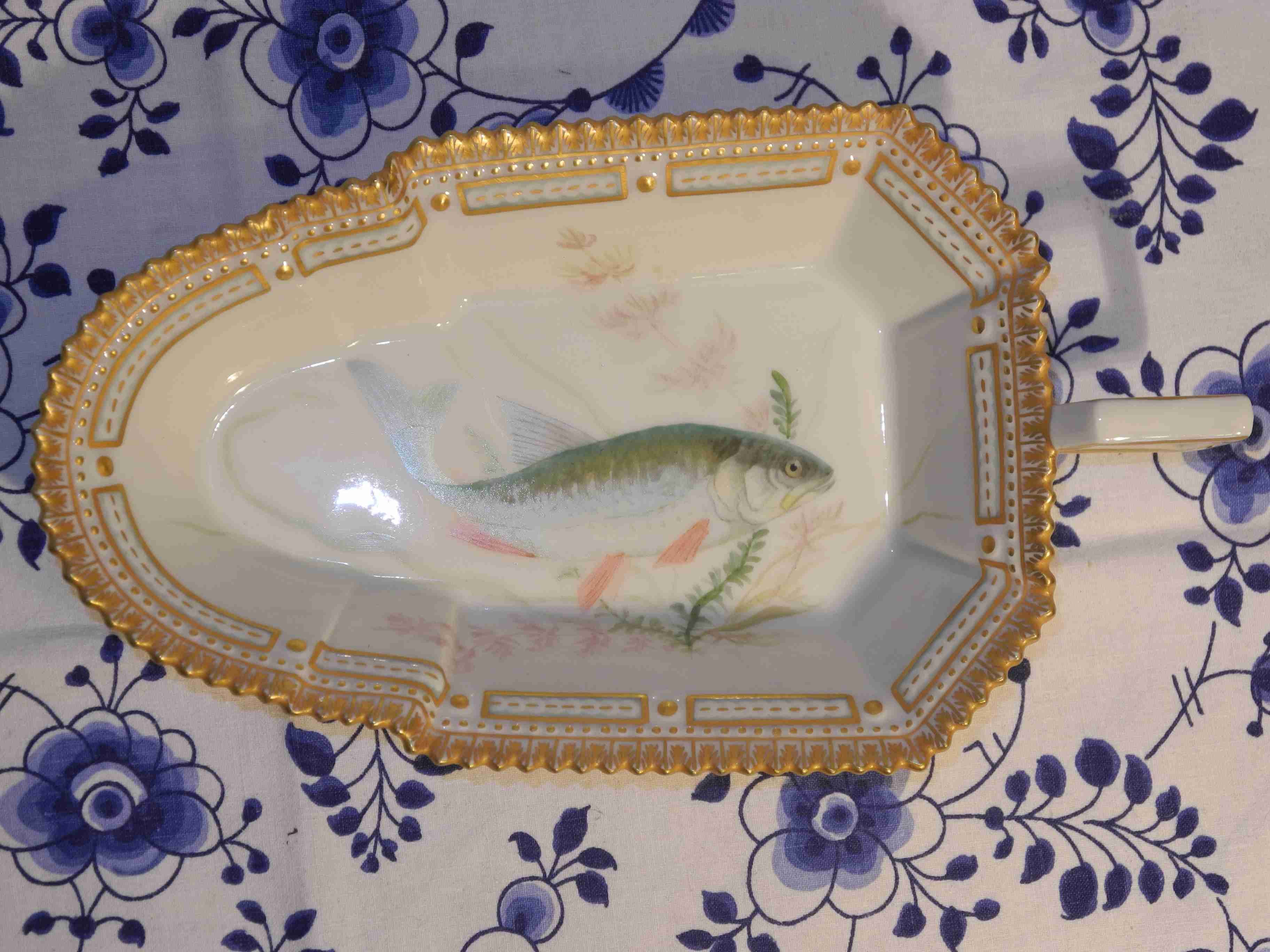 Flora Danica Fish Serving Dish