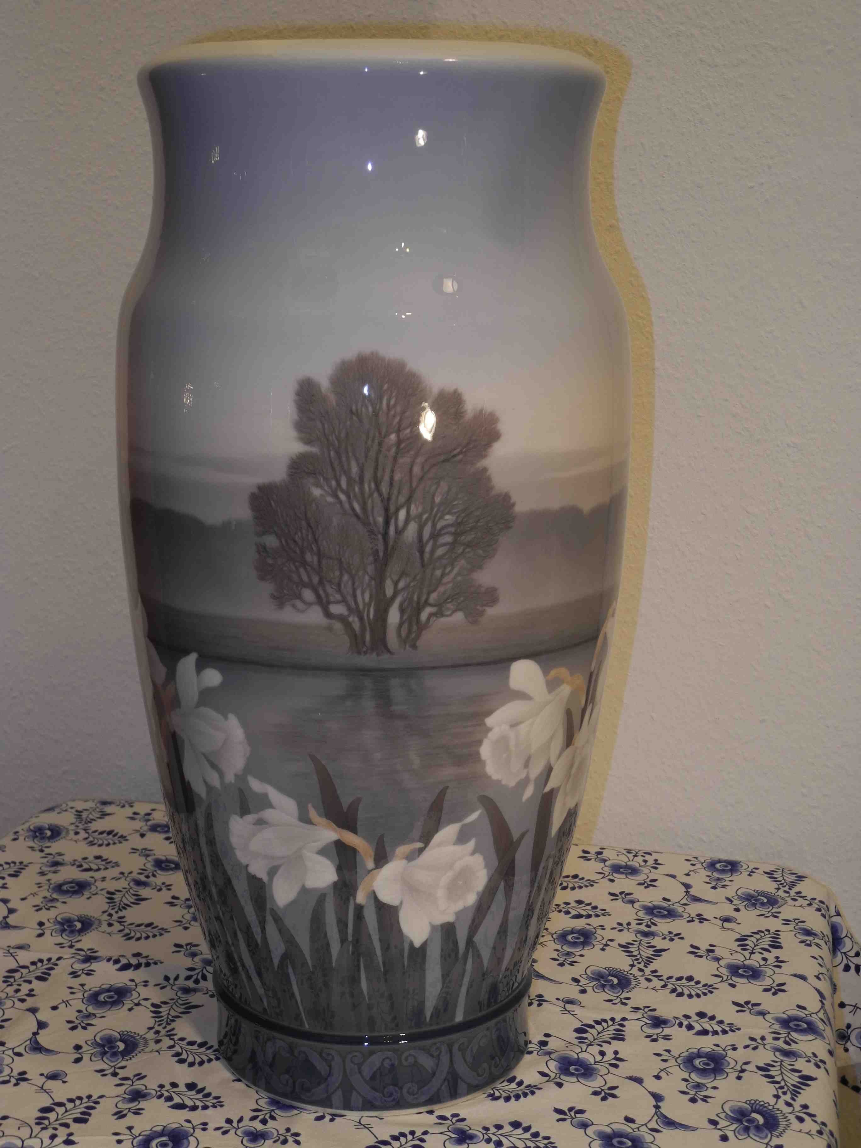 Landscape Vase with flowers